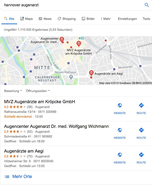 BeispielLocal SEO / Hannover